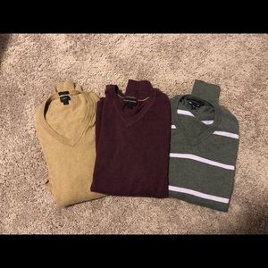3 Men's V Neck Sweaters